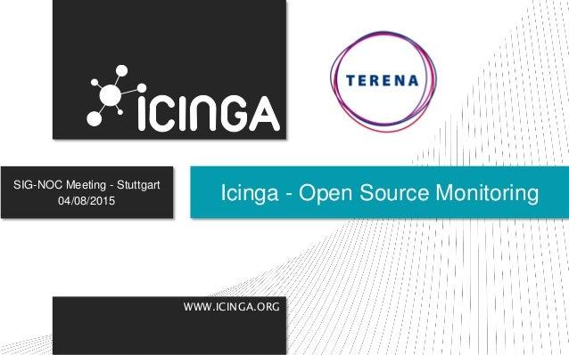 WWW.ICINGA.ORG SIG-NOC Meeting - Stuttgart 04/08/2015 Icinga - Open Source Monitoring