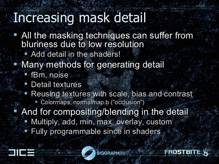 Increasing mask detail <ul><li>All the masking techniques can suffer from bluriness due to low resolution </li></ul><ul><u...