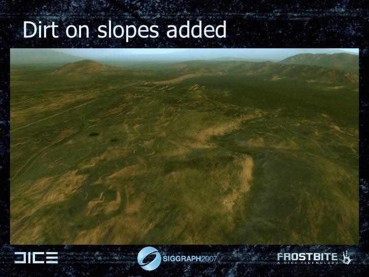 Dirt on slopes added