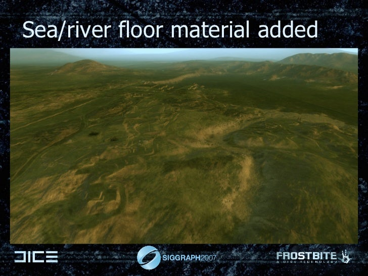 Sea/river floor material added