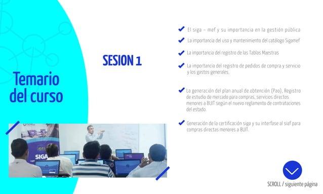 SESION1 Temario del curso El siga – mef y su importancia en la gestión pública La importancia del uso y mantenimiento del ...