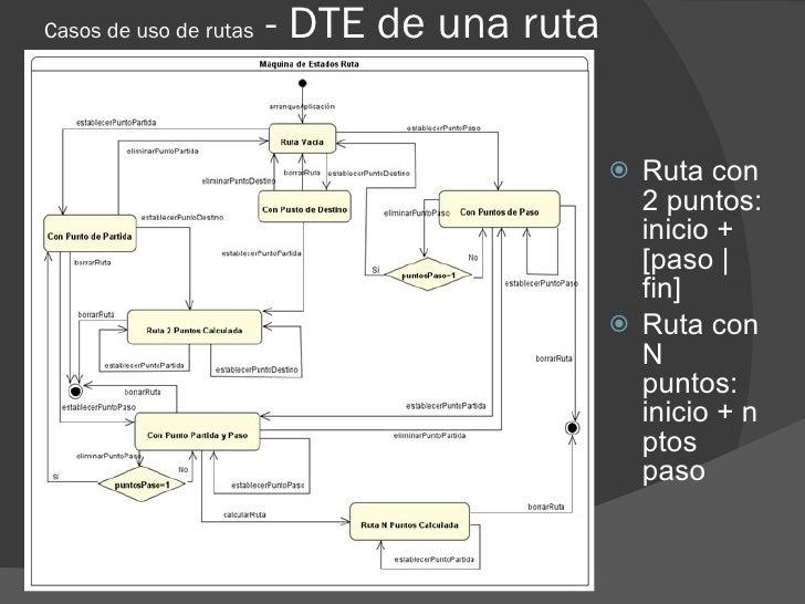 Casos de uso de rutas   - DTE de una ruta                                                Ruta con                        ...
