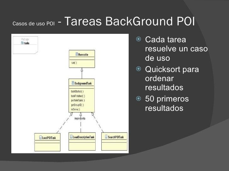 Casos de uso POI   - Tareas BackGround POI                                 Cada tarea                                  re...