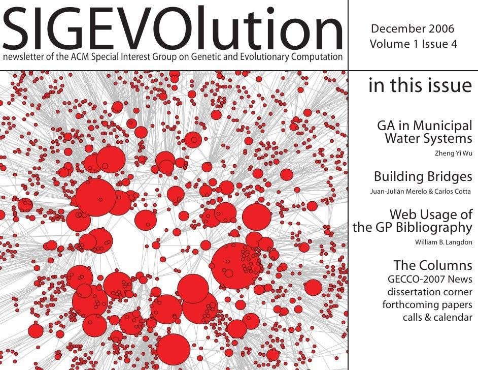 SIGEVOlution                                                                             December 2006                    ...