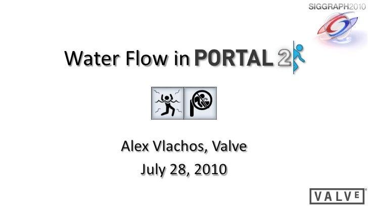 Water Flow in        Alex Vlachos, Valve         July 28, 2010