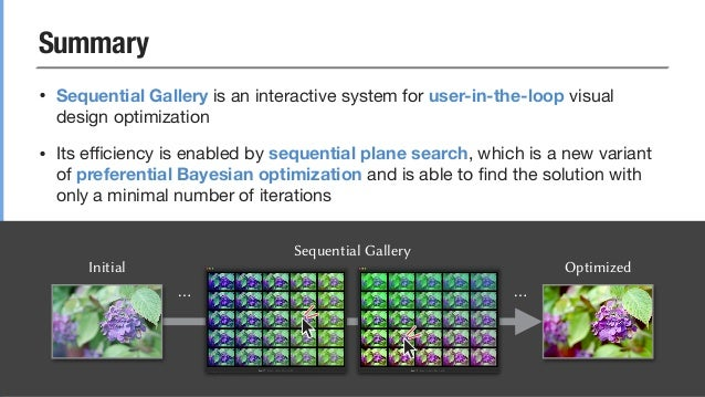 [SIGGRAPH 2020] Sequential Gallery for Interactive Visual Design Optimization