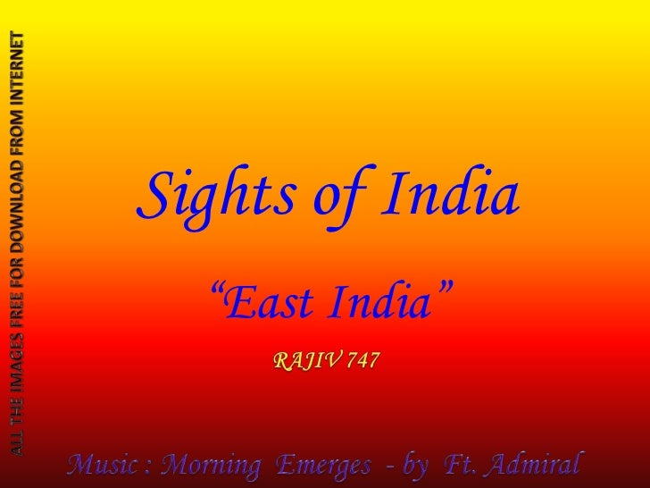 "Sights of India  ""East India"""
