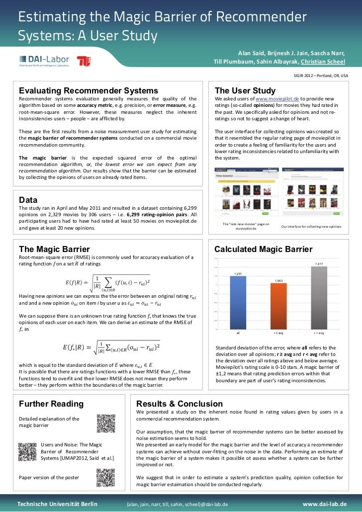Estimating the Magic Barrier of RecommenderSystems: A User Study                                                          ...