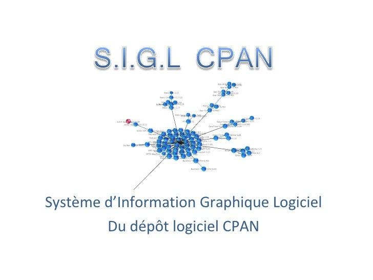 Système d'Information Graphique Logiciel Du dépôt logiciel CPAN
