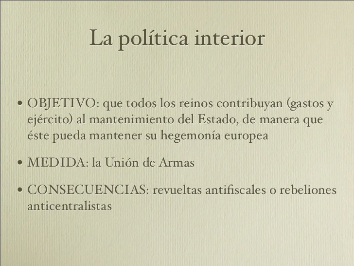 La espa a del siglo xvii for Politica exterior de espana