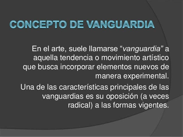 Siglo xx vanguardias musicales for Tipos de vanguardias