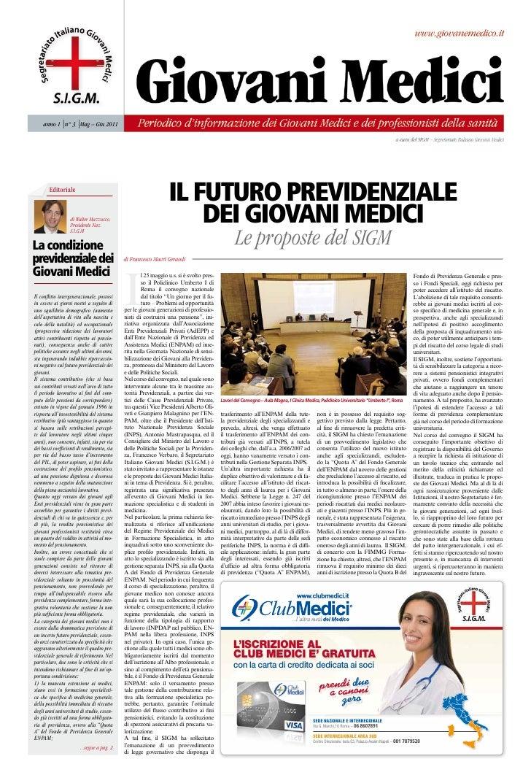 anno 1 n° 3 M – Giu 2011                 ag       Editoriale                                                              ...