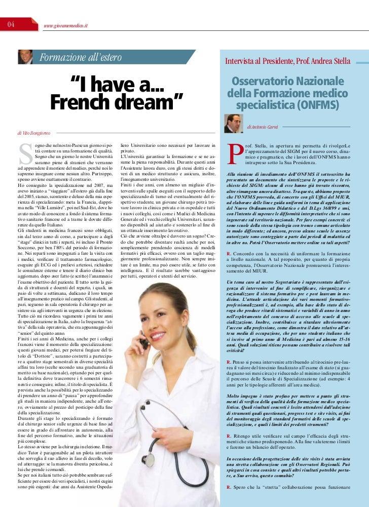 04                  www.giovanemedico.it                  Formazione all'estero                                           ...