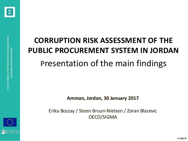 © OECD AjointinitiativeoftheOECDandtheEuropeanUnion, principallyfinancedbytheEU CORRUPTION RISK ASSESSMENT OF THE PUBLIC P...