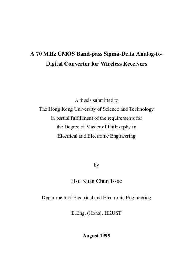 sigma delta converter thesis Asynchronous sigma delta modulators for data conversion asynchronous sigma delta modulators time sigma delta analogue-to-digital converter.