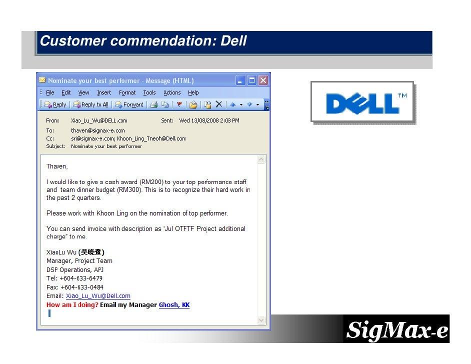 Customer commendation: Dell