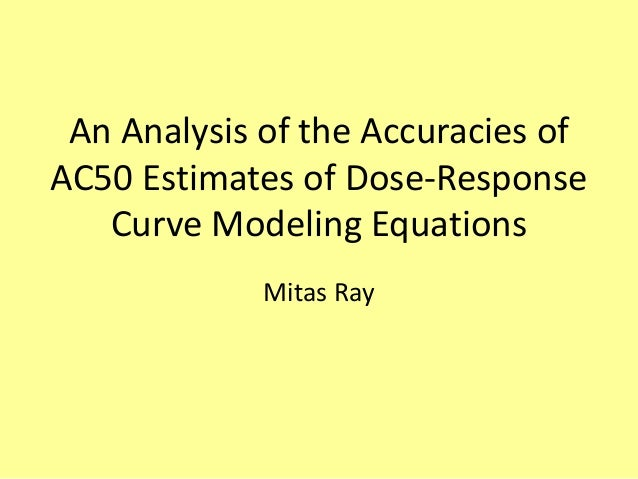 An Analysis of the Accuracies ofAC50 Estimates of Dose-Response   Curve Modeling Equations             Mitas Ray