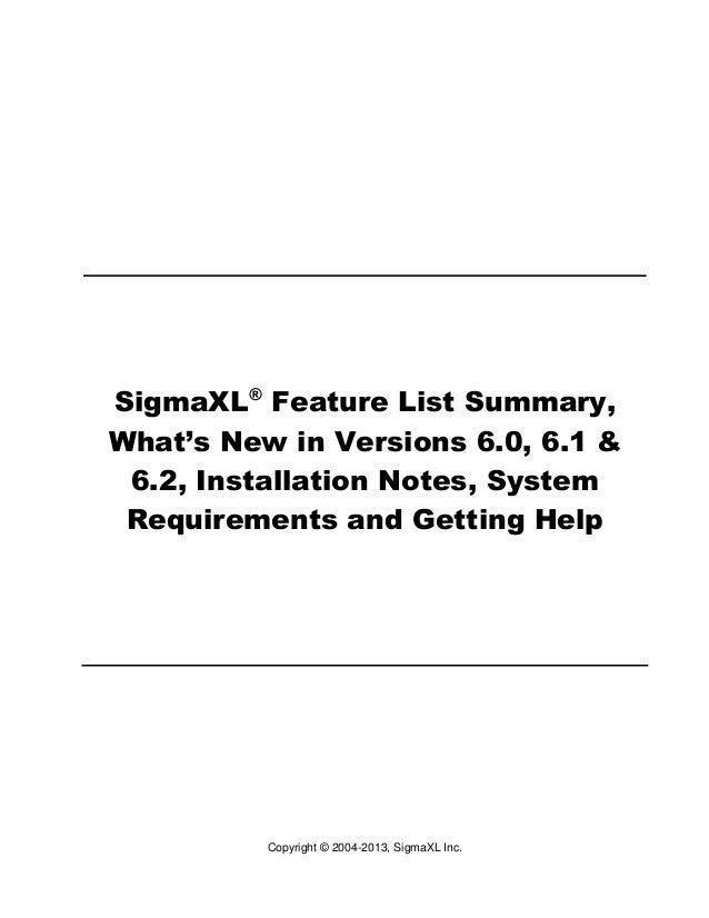 Sigma xl getting_started
