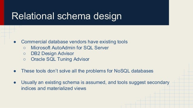 Automated Schema Design For Nosql Databases