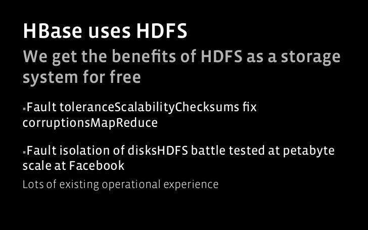HBase System Overview                          Database Layer                     Master       Backup Master          Regi...