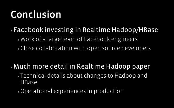 Realtime Apache Hadoop at Facebook