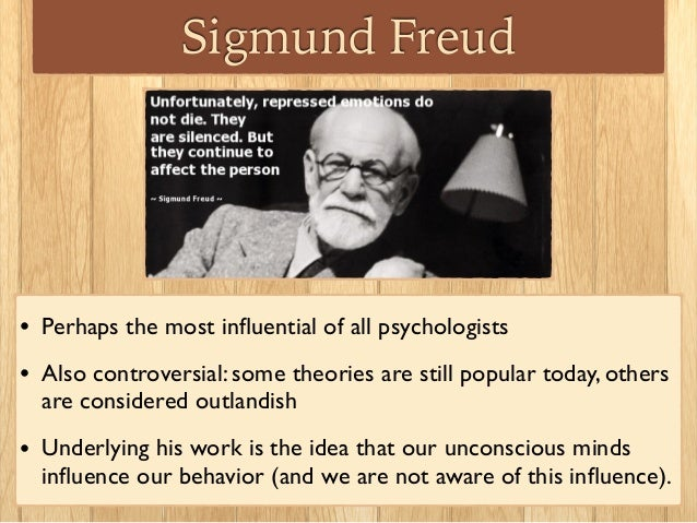 the views and influences of sigmund freud