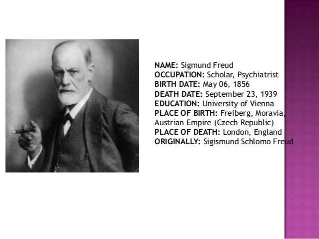 (PSYCHOANALYTIC THEORY); 2. NAME: Sigmund ...
