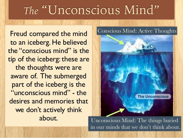 the unconscious The unconscious in modernism back next  no, not what happens when you bonk your head on a brick wall we're talking freud's idea about the stormy seas of desire and animal need that are crashing about in the back of your mind right now wow.