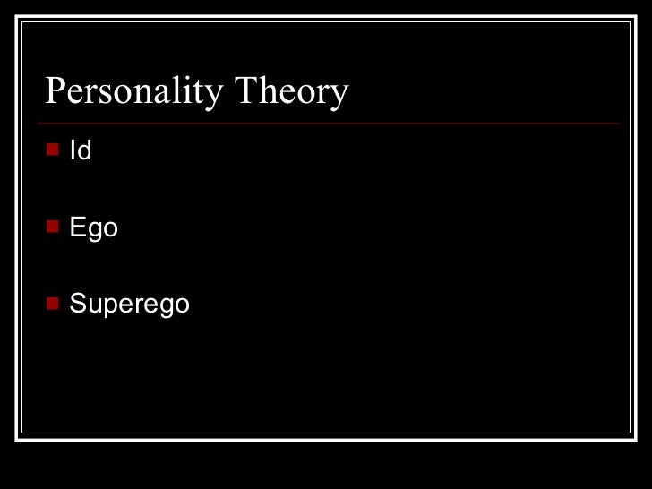 pschosexual theory