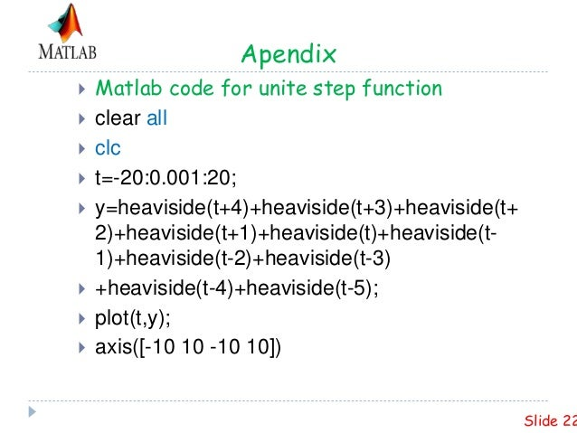 PLOTTING UNITE STEP AND RAMP FUNCTION IN MATLAB