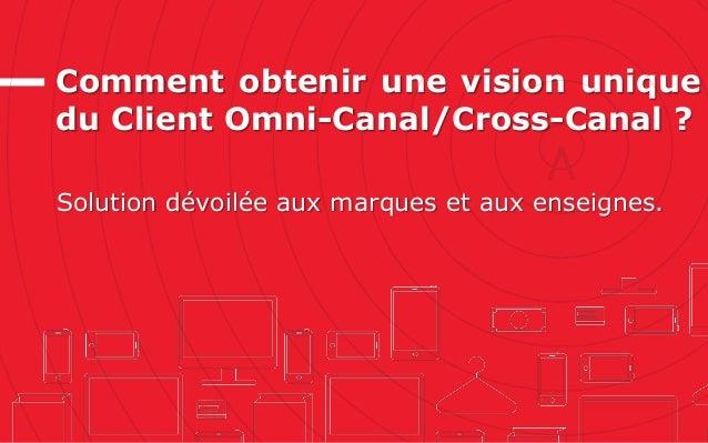 Comment obtenir une vision unique du Client Omni-Canal/Cross-Canal ? Solution dévoilée aux marques et aux enseignes.