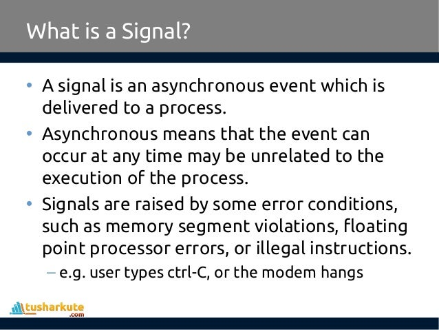 Signal Handling in Linux
