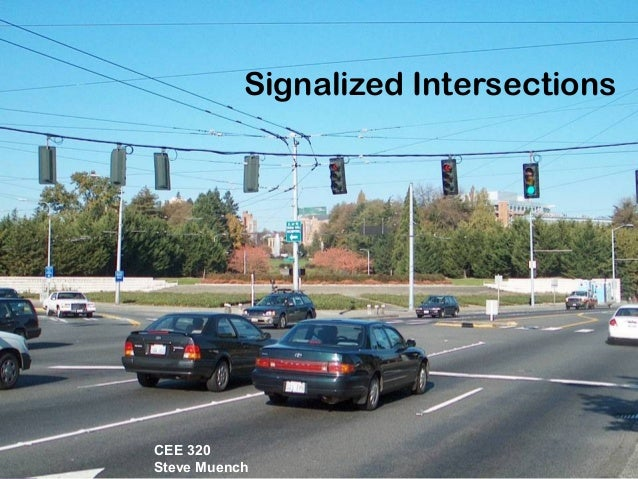 Traffic Transportation Engineering : Signalized intersections transportation engineering