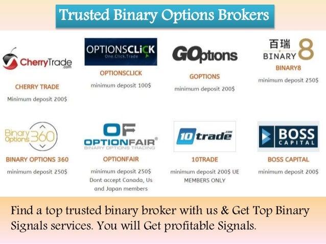 Brokers that trade binary option with no deposit bonus 2016