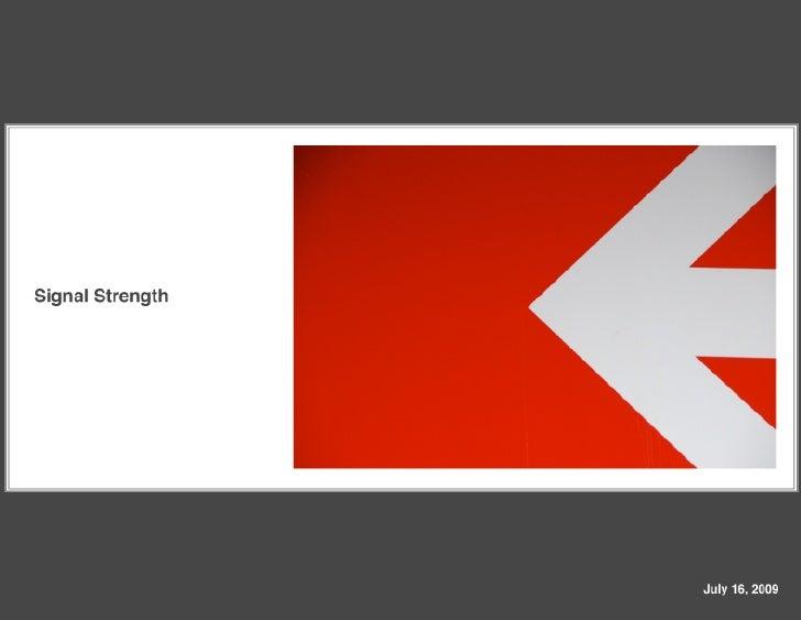 Signal Strength Presentation