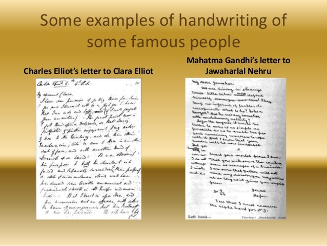 5 Some Examples Of Handwriting Famous People