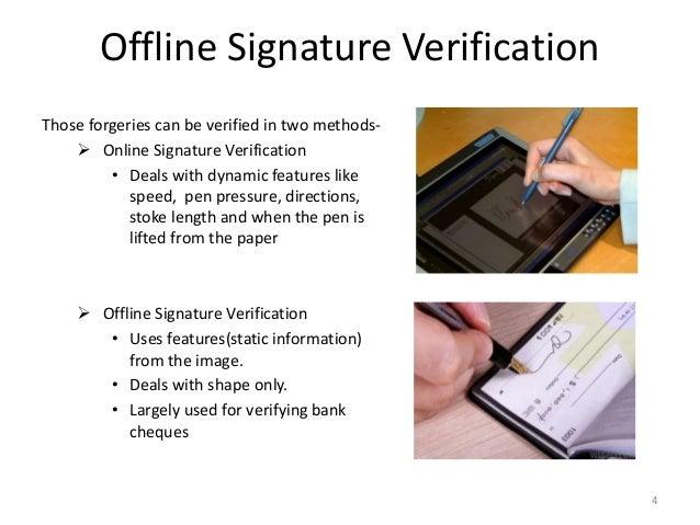 Thesis signature verification