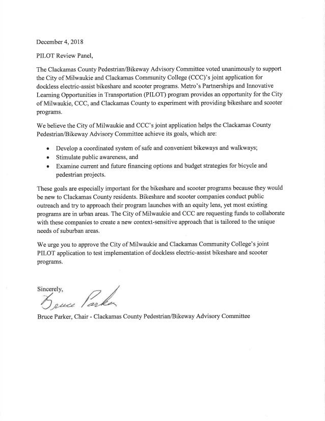 SIGNED Letter of Support from Clackamas County PBAC 12-4-18