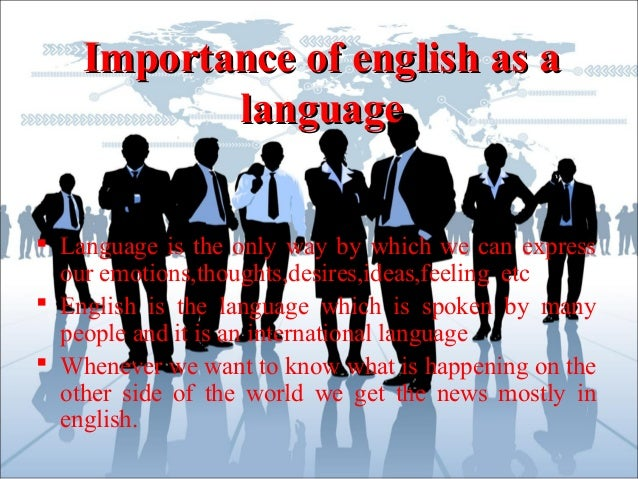 importance of english in todays world