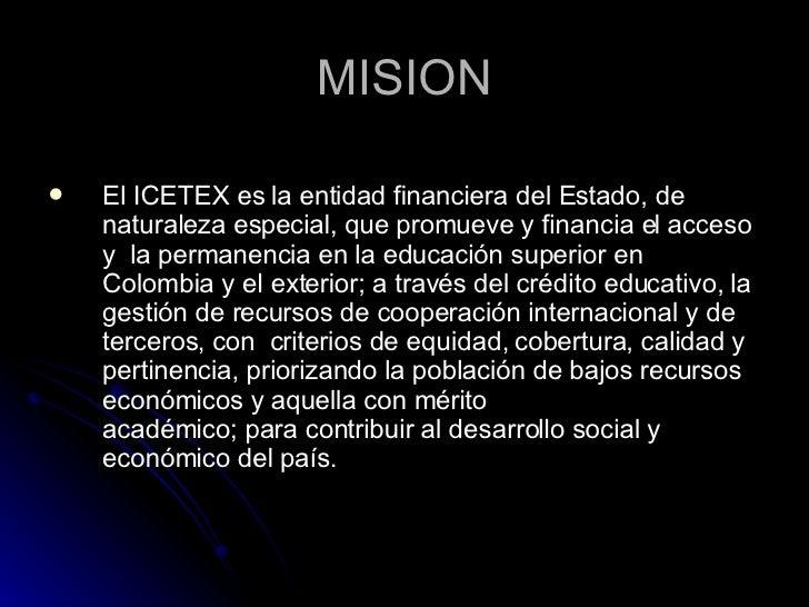 Significado icetex for Significado de exterior
