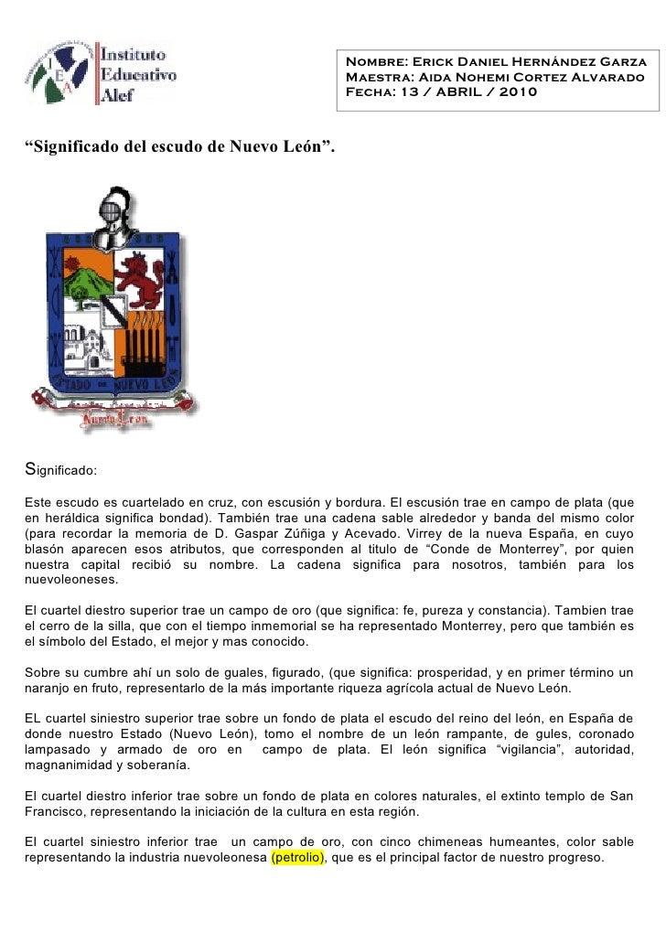 Nombre: Erick Daniel Hernández Garza                                                       Maestra: Aida Nohemi Cortez Alv...