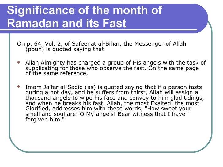 <ul><li>On p. 64, Vol. 2, of Safeenat al-Bihar, the Messenger of Allah (pbuh) is quoted saying that  </li></ul><ul><li>All...