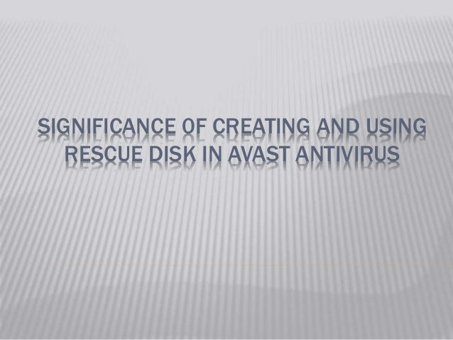 how to create an avast rescue disk