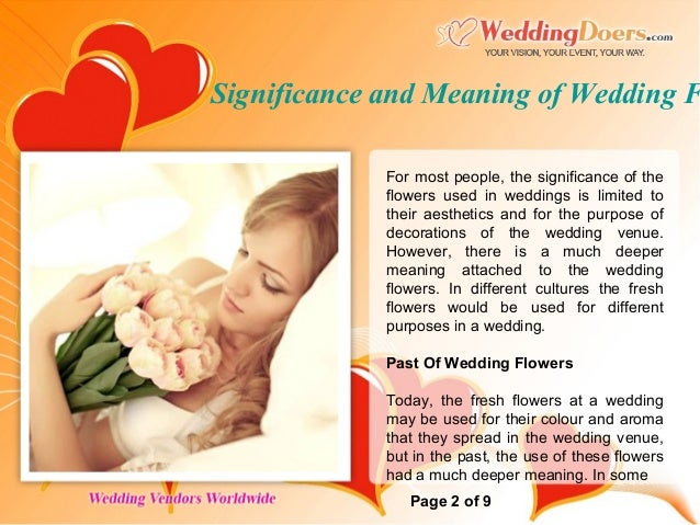 Significance and Meaning of Wedding Flowers