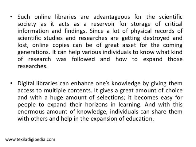 significance of internet to students As librarians, we know the value of our community services, and our patrons appreciate their importance as well but in an increasingly digital world, we see the role.