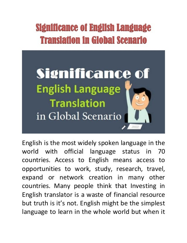 Significanceofenglishlanguage Translationinglobalscenariojpgcb - What is the most widely spoken language in the world