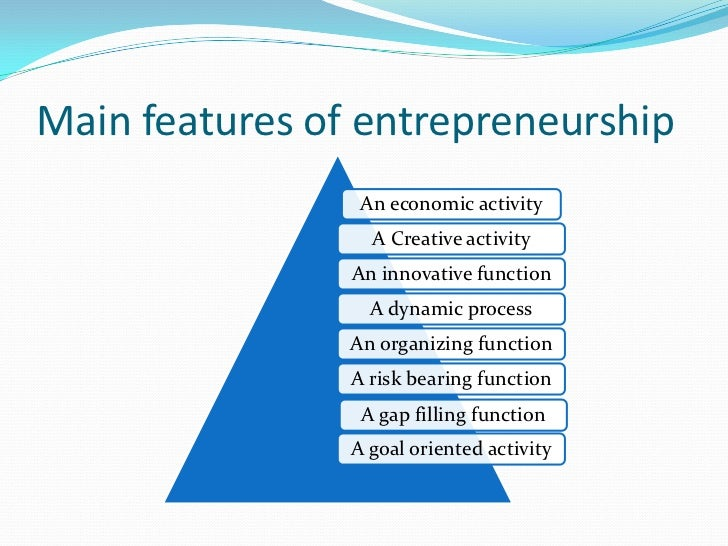 entrepreneurship development Entrepreneurship is the process of designing, launching and running a new  business, which is often initially a small business the people who create these  businesses are called entrepreneurs entrepreneurship has been described as  the capacity and willingness to develop, organize and manage.