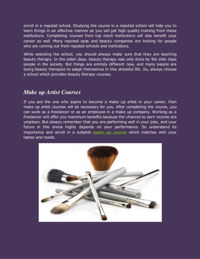 Significance of make up course Slide 2