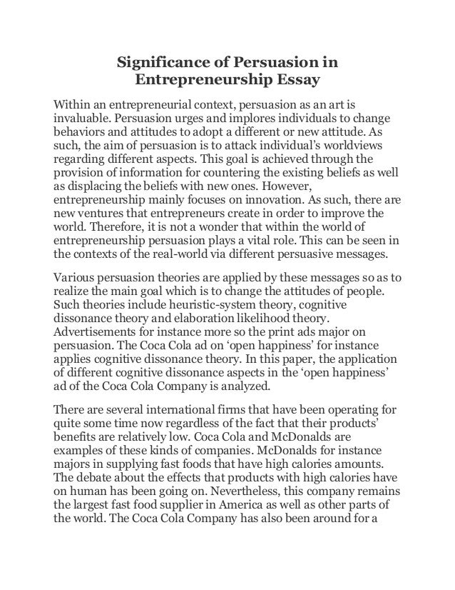 small business and entrepreneurship essay