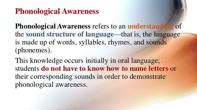 Significance of phonological awareness for the learners with special …